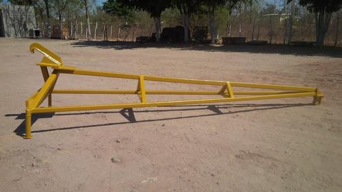 pluma jib extension tipo grua 16 pies para adaptar a maquina
