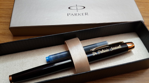 pluma parker im excelente pieza estilográfica ideal grabados