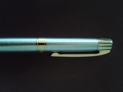 pluma sheaffer 300 ball pen cromo cepillado clip dorado