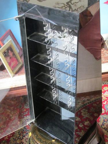 plumas, bolígrafos mueble de exhibición acrílico giratorio