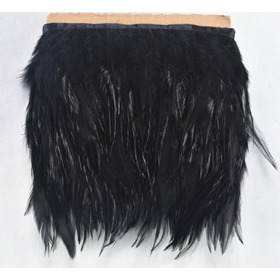 Plumas De Gallo 70cm Negro