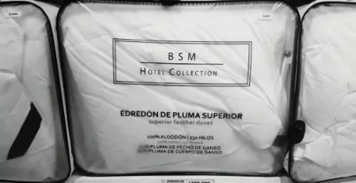 plumon 2 plazas hotel premium plumas ganso unicamente blanco
