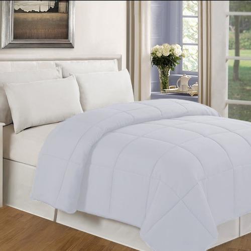 plumón doble alegro liso - color blanco