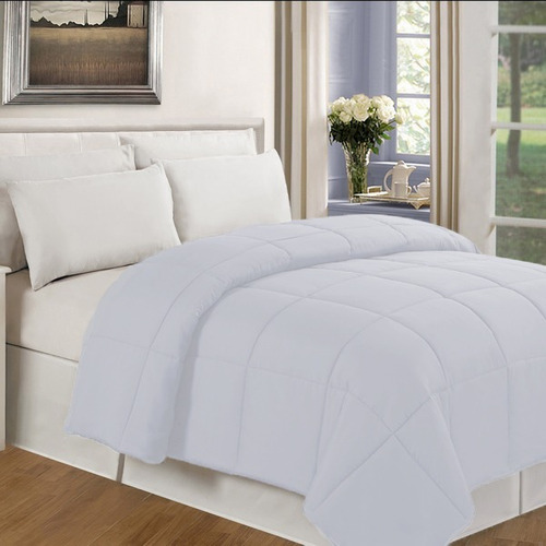 plumón doble alegro liso - color blanco karytex