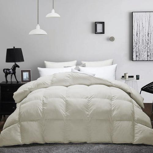 plumon king lujo 100% algodón egipcio 200 hilos beige