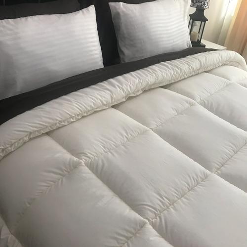 plumon queen lujo 100% algodón egipcio 200 hilos beige