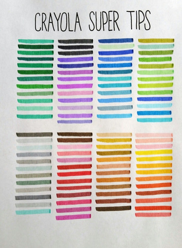 plumones crayola de 100 colores supertips delgados lavables