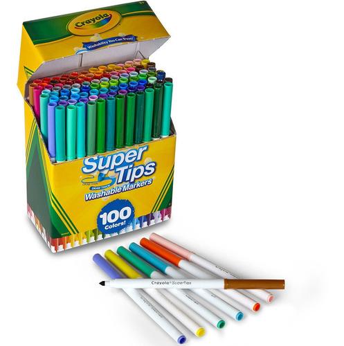 plumones crayola supertips marcadores delgados lavables