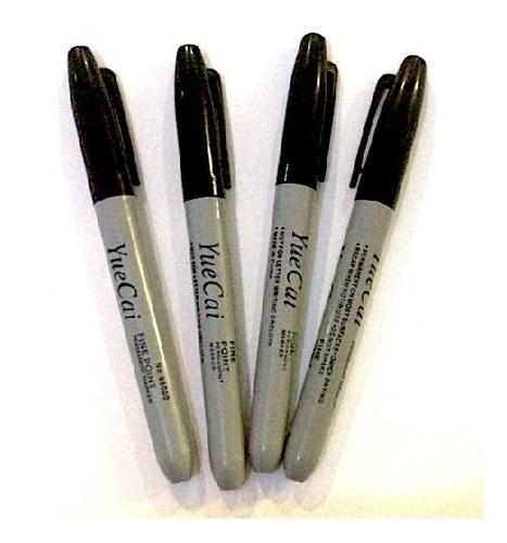 plumones tipo sharpie paquete con 12 pzs de colores o negro