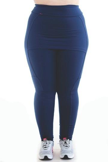 2ef0d8e10 Plus Size Calça Legging Saia Tapa Bum Suplex Fitness Outlet - R  49 ...