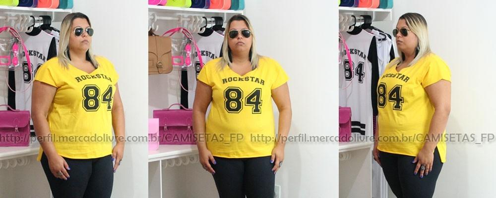 e9cb7ca5475 plus size camiseta t-shirt numero bata regata tamanho grande. Carregando  zoom.