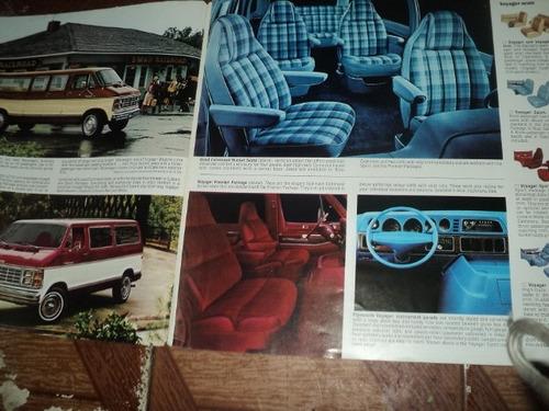 plymouth voyager 1981 folheto