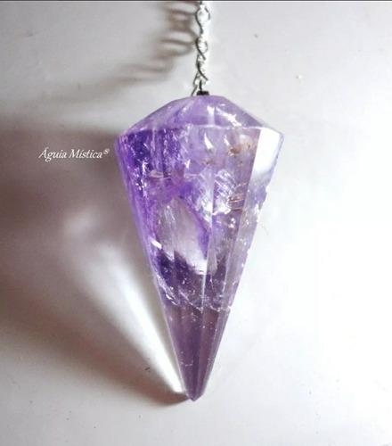 pêndulo em cristal ametista legítima radiestesia