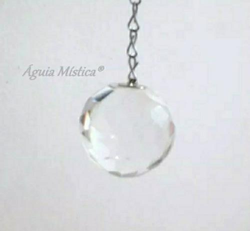 pêndulo prisma cristal quartzo legítimo facetad  radiestesia