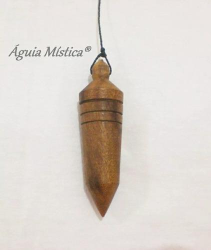 pêndulo testemunho radiestesia em madeira