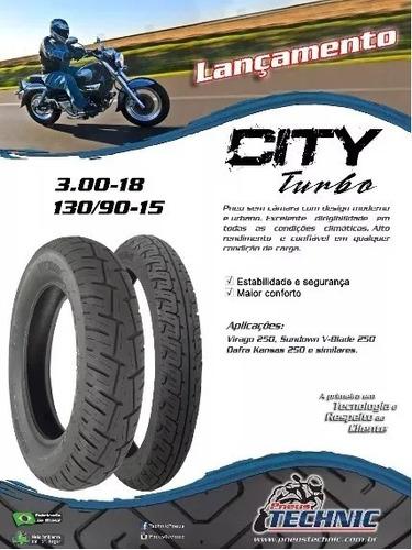 pneu 130/90-15 technic s/c virago 250 v-blade 250 mirage 250