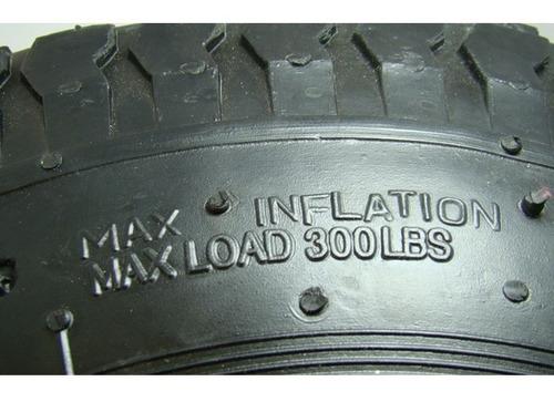pneu aro 8 x 3,5 p/ carrinho de mão kart cross mini 4 lonas