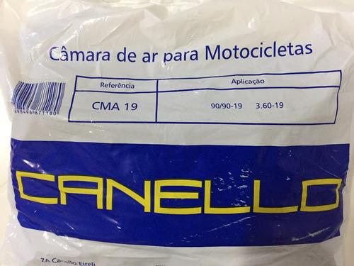 pneu de moto 90.90-19 or + câmara 300x19 canello diant bros