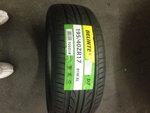 pneu delinte 195/40/17 novo gehum rodas