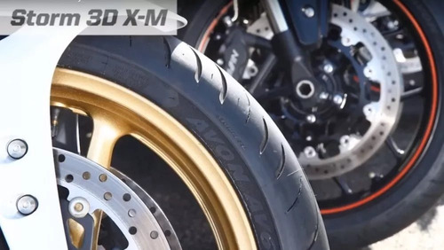 pneu dianteiro avon storm 3d 120/70-17 kawasaki z650 z 650