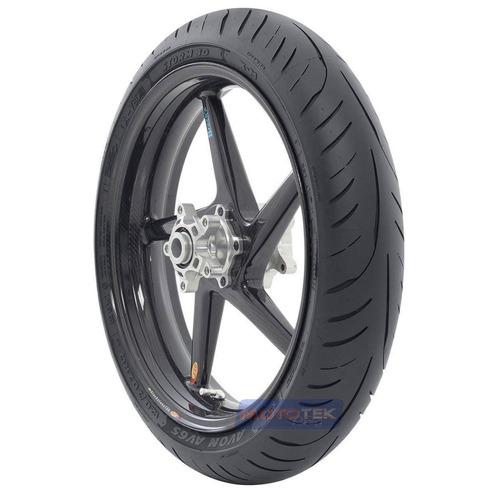 pneu dianteiro avon storm 3d 120/70-17 kawasaki zx6r zx6 636
