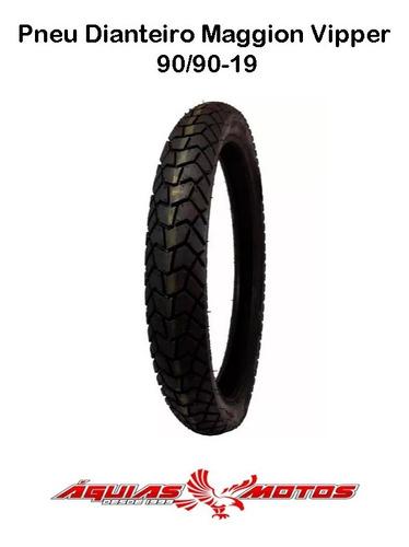 pneu dianteiro bros 160/150 maggion viper 90/90-19