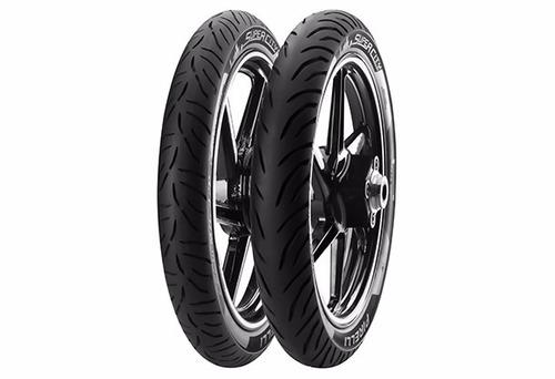 pneu dianteiro + traseiro fazer 150 2.75-18+100/80-18 pirell