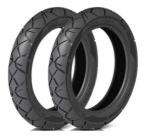 pneu dianteiro/traseiro parrudo (par) nxr 125/150 bros 90/90