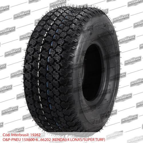 pneu kenda 15x600-6 trator cortador grama 4 lonas turf