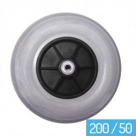 pneu maciço dianteiro 200 x 50 para cadeiras de rodas (par)