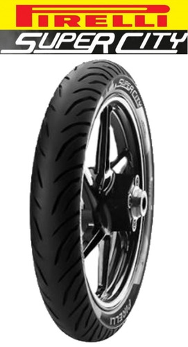 pneu moto cg pirelli super city 100/80 18 + mt65 275 18 tl