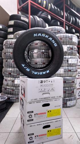 pneu nankang 215/60r14 carros antigos letra branca opala c10