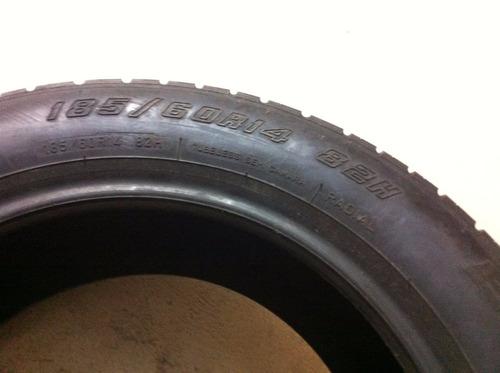 pneu novo originais de 0km gol gti 89-94 quadrado 185-60 r14