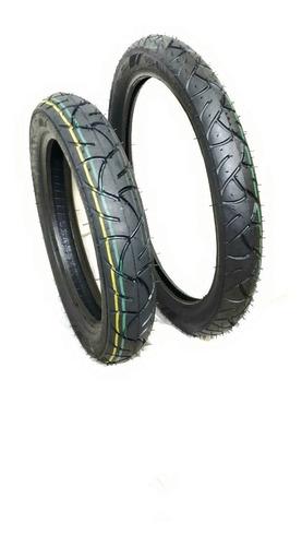pneu para motos biz e pop par modelo balão remold.