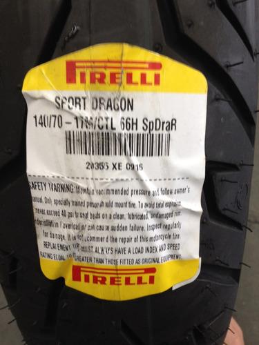 pneu pirelli sport dragon 140/70-17  cb300/fazer twister nin