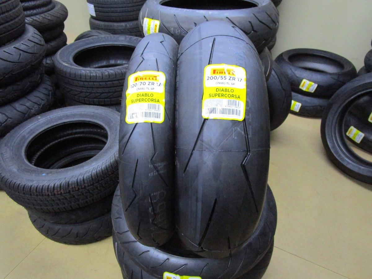 pneu pirelli supercorsa sp v2 120 70 zr17 200 55 zr17 r em mercado livre. Black Bedroom Furniture Sets. Home Design Ideas