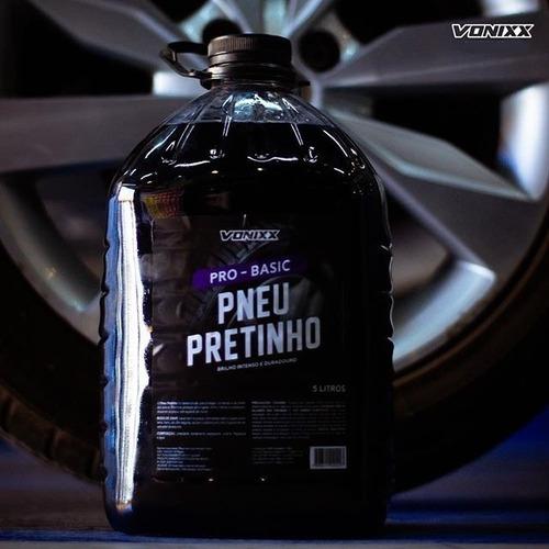 pneu pretinho vonixx lavagem preteador brilhoso concentrado