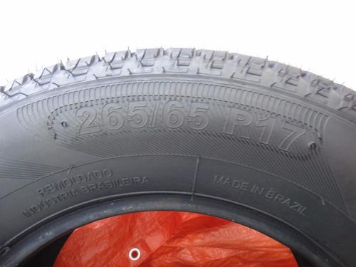 pneu remold 265/65r17 black - direto da fabrica com garantia