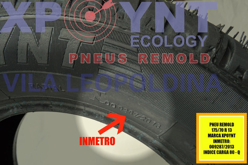 pneu remold c inmetro 175/70r13 lj são paulo gol uno corsa
