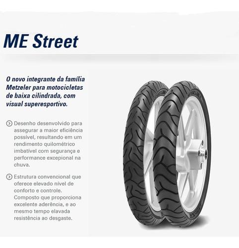 pneu traseiro metzeler 90/90 - 18 m/c 57p reinf tl me street