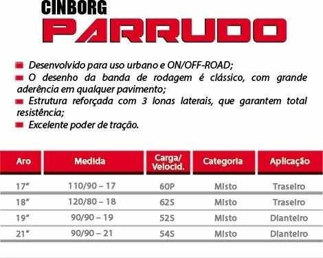 pneu traseiro moto cg titan fan 125 150 90 90 18 parrudo