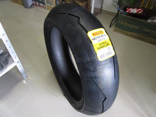 pneu traseiro pirelli diablo supercorsa sp 180 55 r17 73w. Black Bedroom Furniture Sets. Home Design Ideas