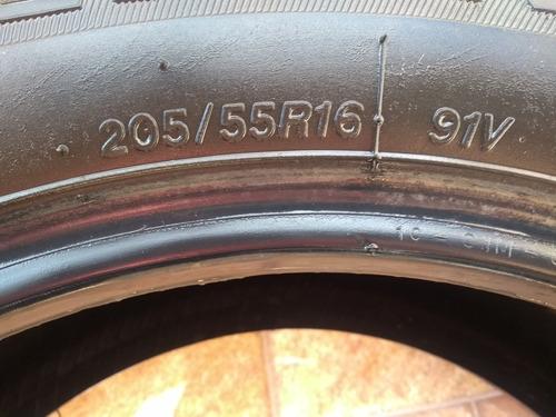pneus 205 /55 aro 16 usado em otimo estado