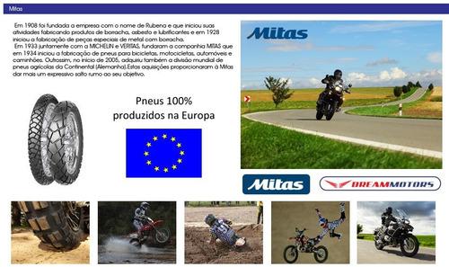 pneus mitas e-07 90/90-21 150/70-17 bmw gs 800 850 tiger 800