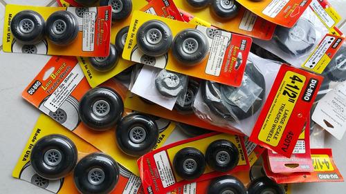 pneus para aeromodelo du-bro (2-75t) valor por par..