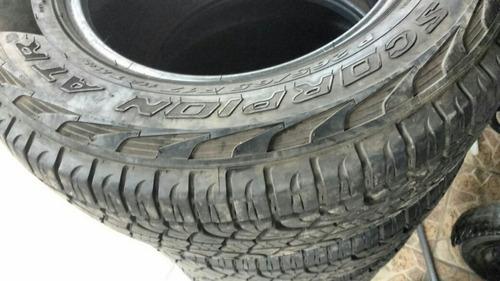 pneus ranger aro 17 pirreli escorpios atr 265/65/17 duas uni