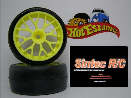 pneus sintec c/ rodas  dianteira p/ jato 3.3 - sintec s075