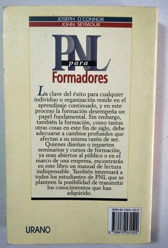 pnl para formadores, j. o´connor. urano 1994