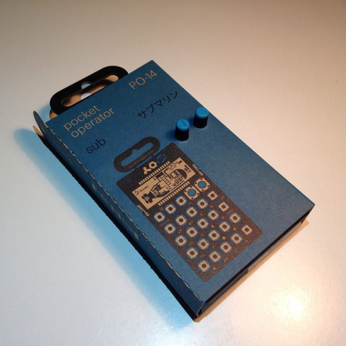 po-14 sub pocket operator bajo drums teenage engineering