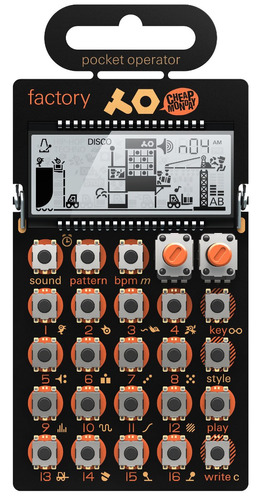 po-16 factory pocket operator sinte drum teenage engineering